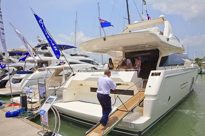 One of the many luxurious boats at Royal Phuket Marina