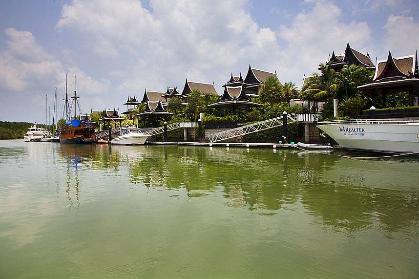 Not only the boats are luxurious but the houses at Royal Phuket Marina as well