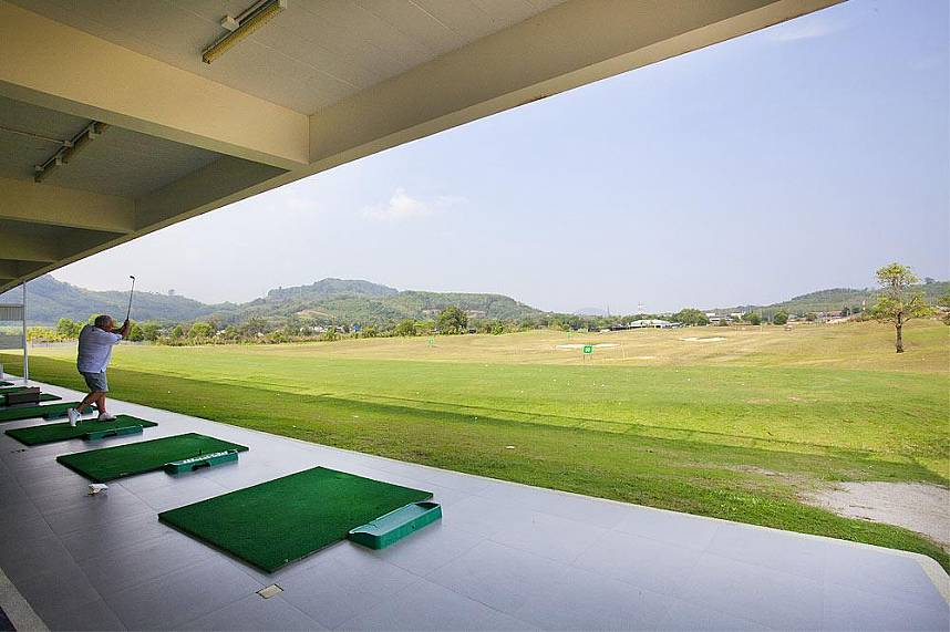 Driving range at Phunaka Golf Course in Phuket