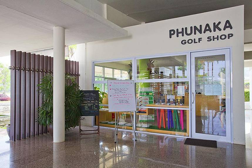 The Pro shop at Phunaka Golf Course in Phuket