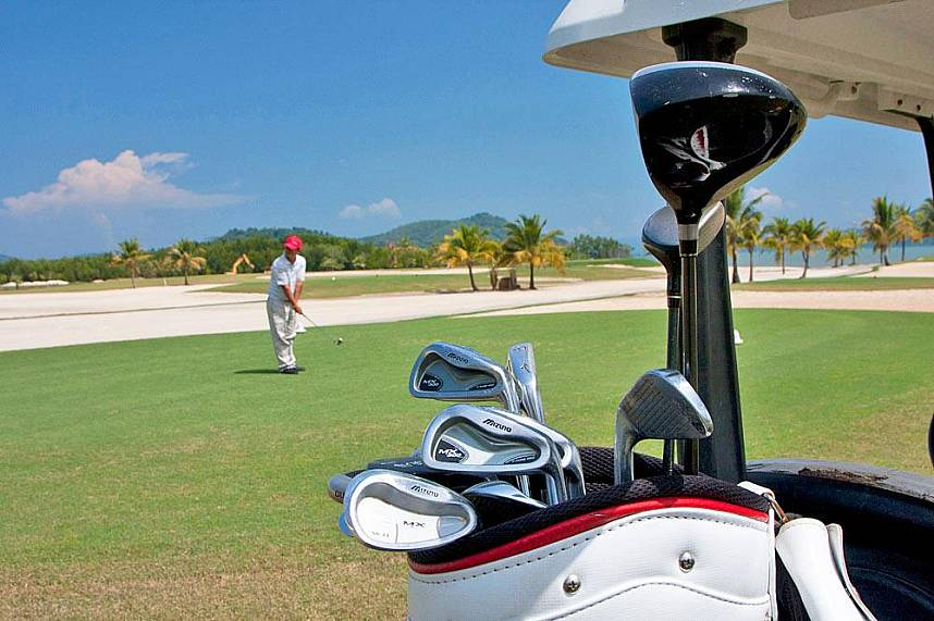 Phuket Mission Hills Golf Course is situated by the sea