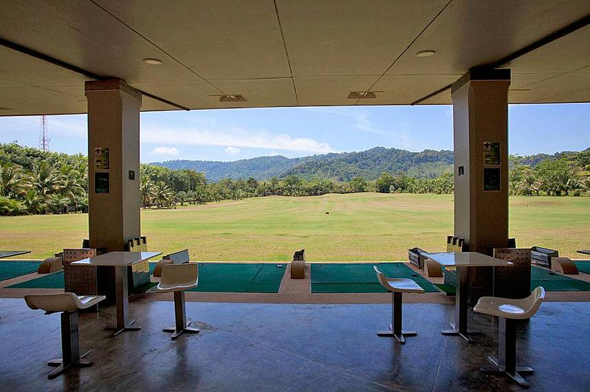 Incredible view from he driving range at Phuket Mission Hills Golf Course