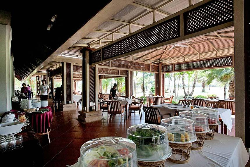 the restaurant at Phuket Mission Hills Golf Course is famous for its delicious food