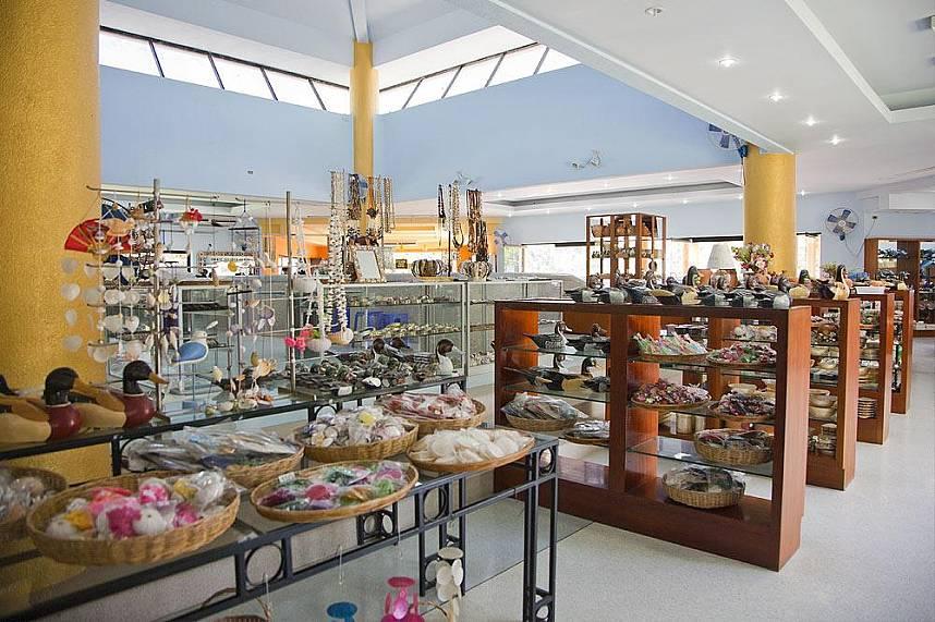 Big souvenir shop at Phuket Seashell Museum