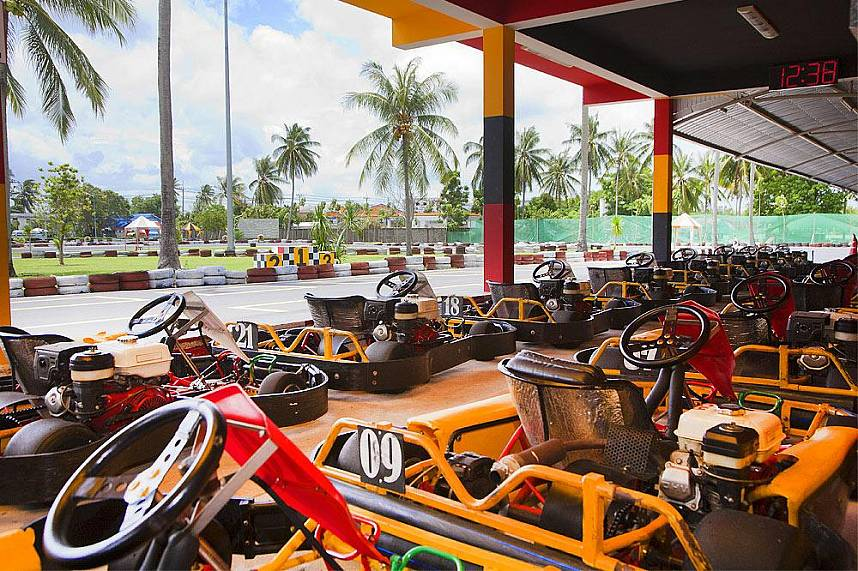 The Phuket Racing Kart circuit is at Chalong