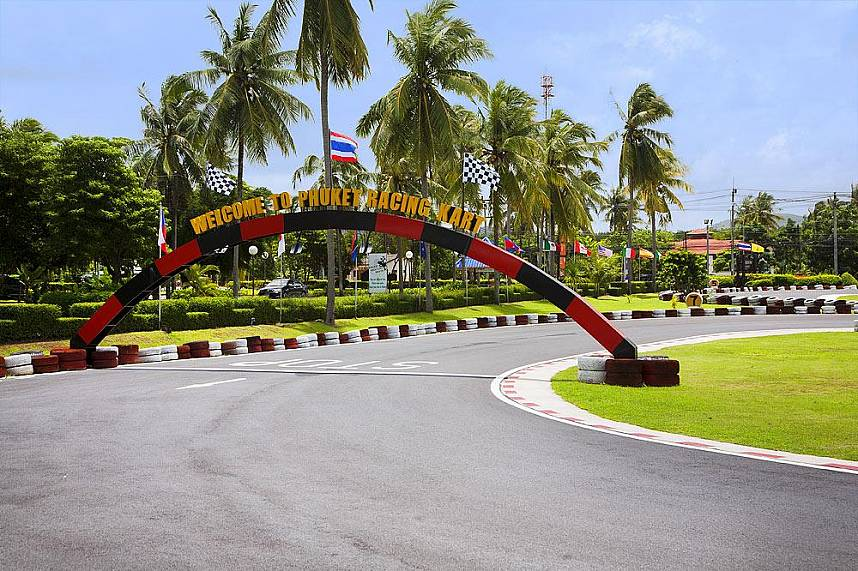 Welcome at the Chalong Racing Kart track in Phuket