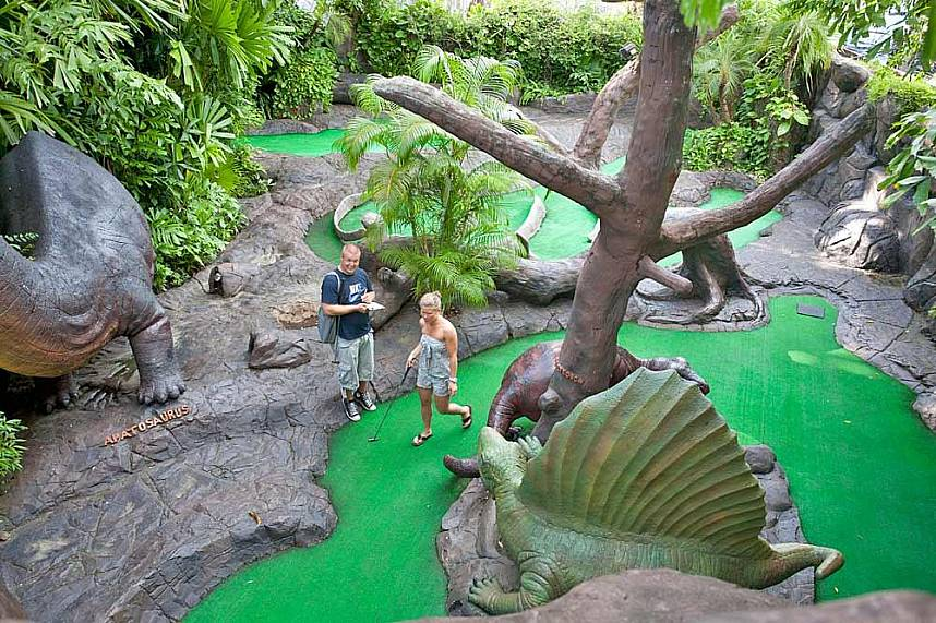 Dino Park Mini-Golf Phuket is a great place for the whole family