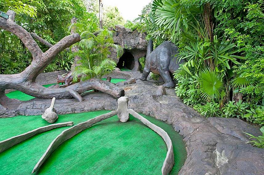 Spend a fun time at Phuket Dino Park Mini-Golf during your Phuket holiday