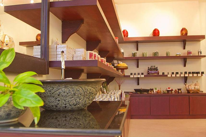 A great variety of spa products for sell at Sukko Spa Phuket