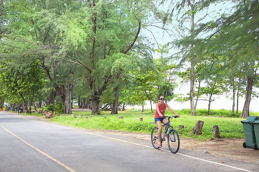 enjoy a bicycle ride at Sirinat National Park Phuket