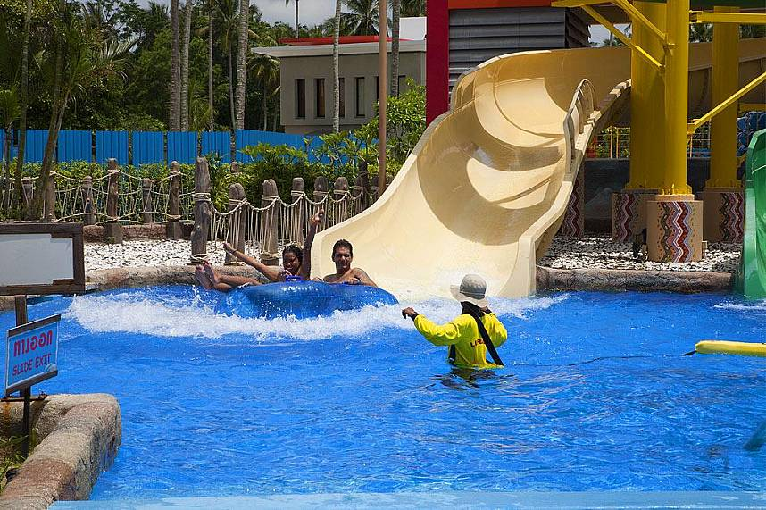 Splash Jungle Water Park Phuket is a fun attraction place for the whole family