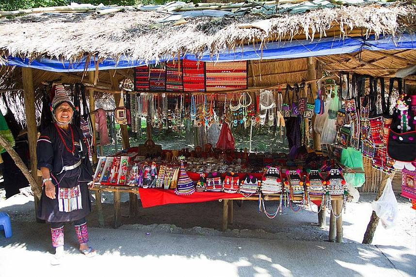 Get some beautiful handmade souvenirs at Mae Rim Hill Tribe Village in Chiang Mai