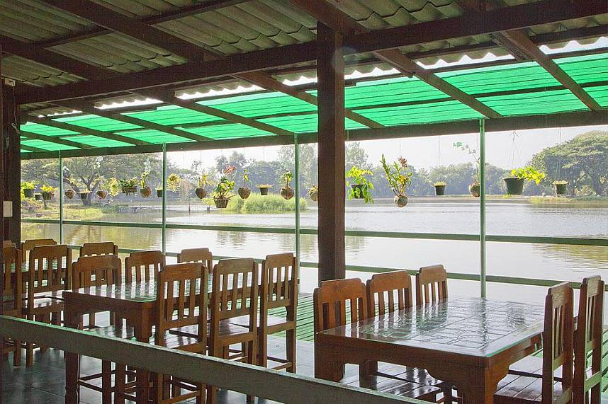 Lovely restaurant at Borsang Fishing Park Chiang Mai