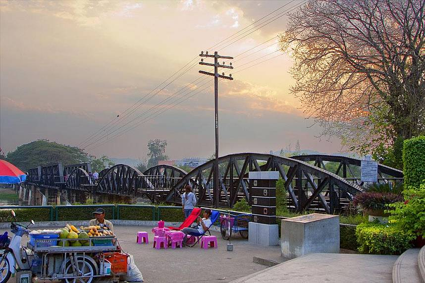 A day tour during your family holiday from Bangkok to the Bridge Over the River Kwai Kanchanaburi should not be missed