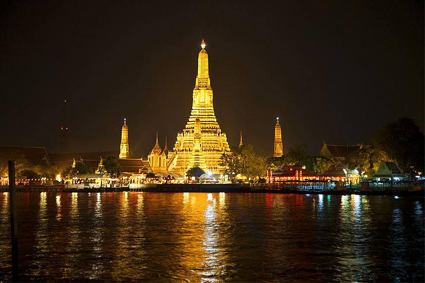 A night cruise on Chao Phraya River Bangkok