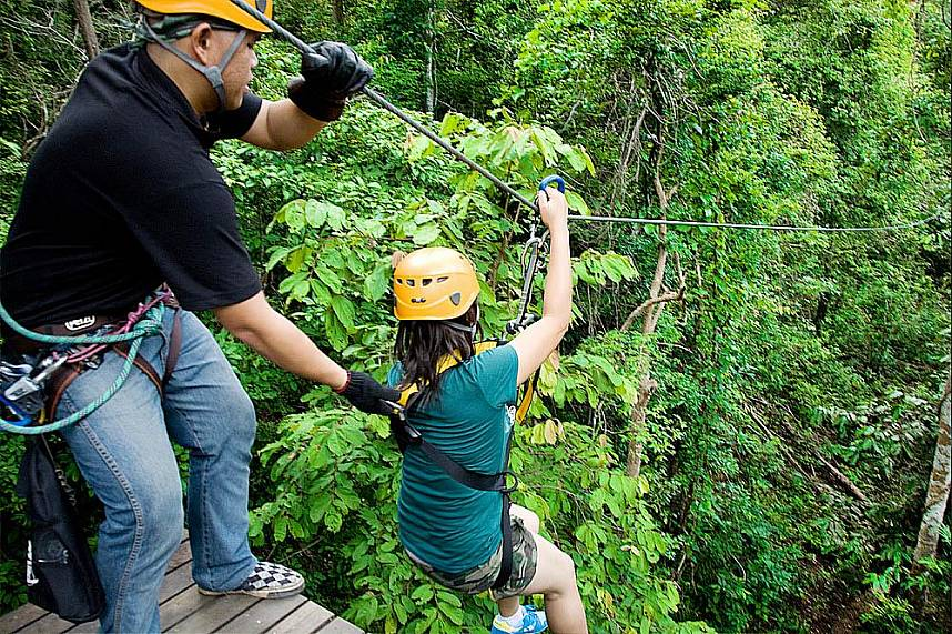Get the adrenaline running at Flight of the Gibbon Pattaya