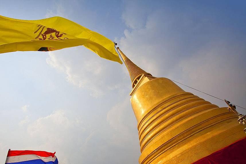 Chedi at Phukao Thong or Golden Mount in Bangkok