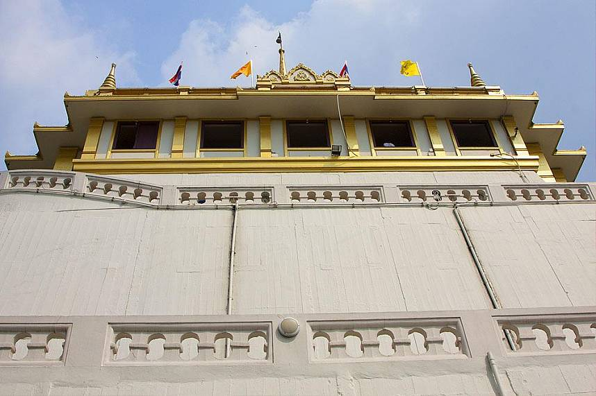 The sacred temple of Golden Mount also known as Wat Saket in Bangkok