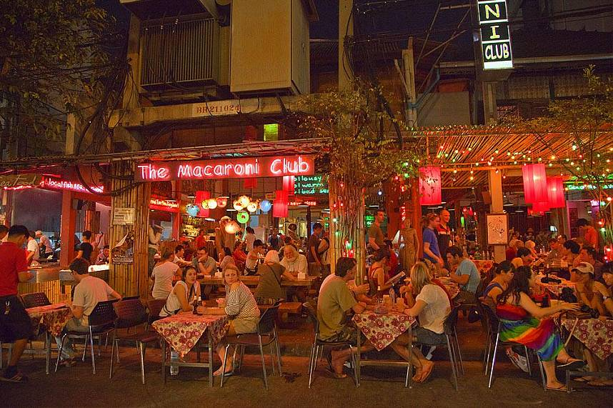 Have a meal at Khao San Road Bangkok and watch the lively place