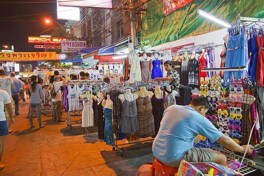 Colorful market at Khao San Road Bangkok
