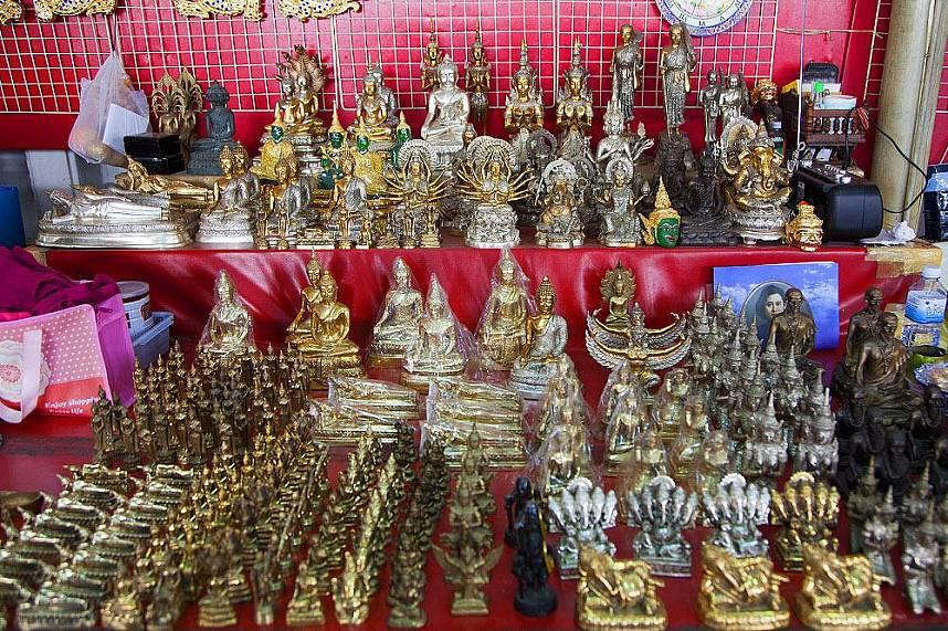 Holy relics for sell at Wat Pho Bangkok