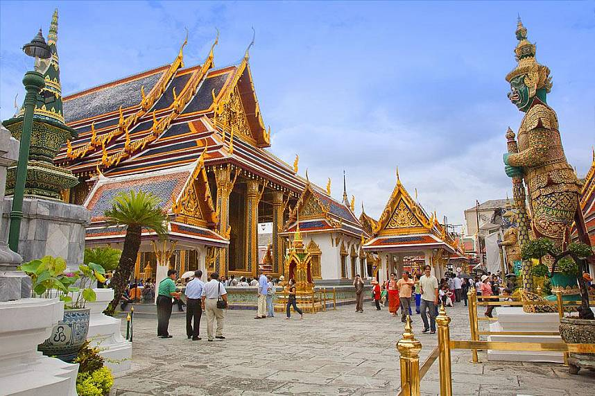 Wat Phra Kaew Temple of the Emerald Buddha Bangkok is one of the great attractions in Thailand