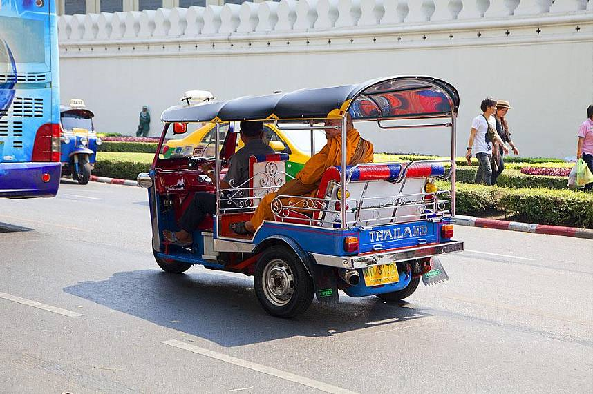 Get to Wat Phra Kaew Temple of the Emerald Buddha Bangkok by a Tuk-Tuk