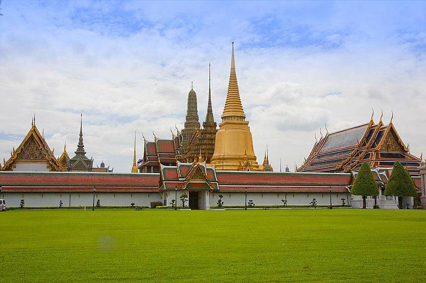 Near Wat Phra Kaew Temple of the Emerald Buddha Bangkok is the sacred Wat Pho