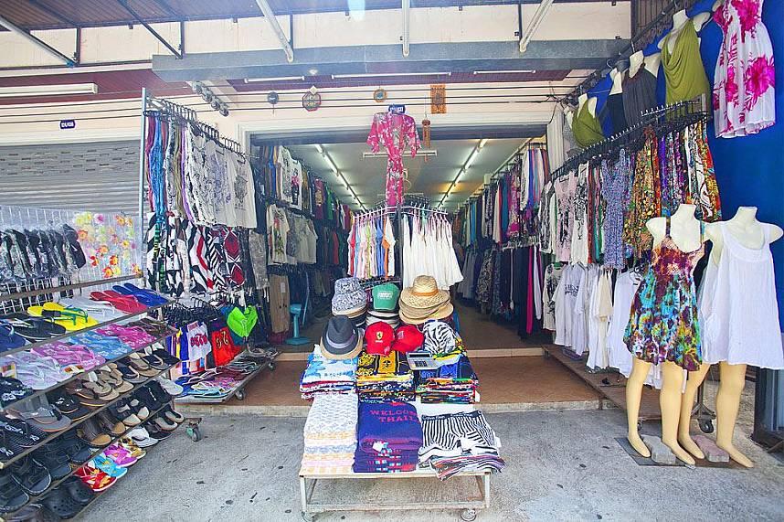 Beach shop at Koh Samui Lamai Beach