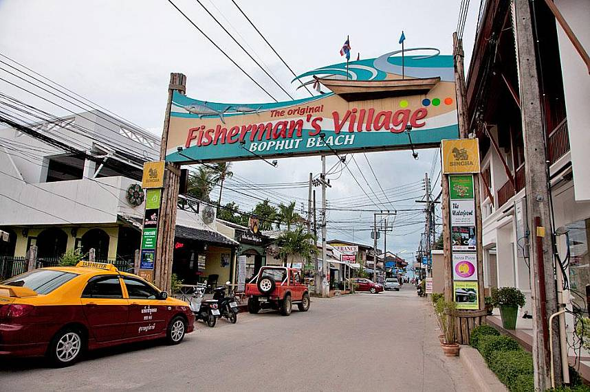 Welcome at Fisherman's Village on Bophut Beach in Koh Samui