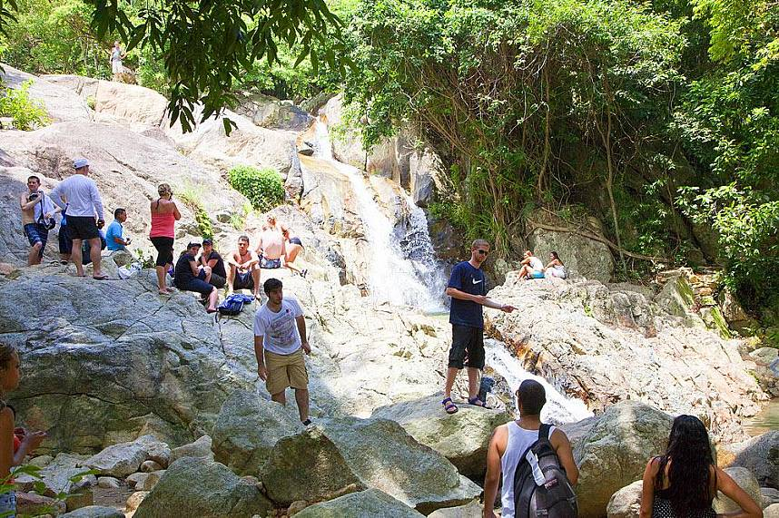 Relax at the waterfall in Namuang Safari Park at Koh Samui