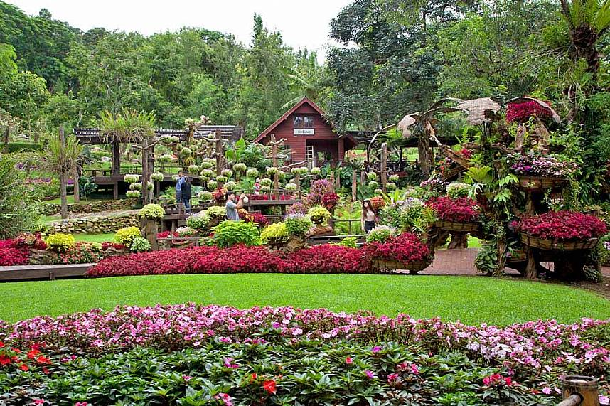 Doi Tung Mountain Chiang Rai with its beautiful gardens