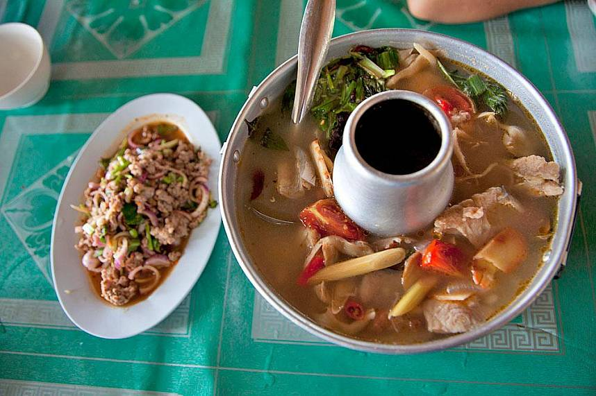 Try the local specialties at Golden Triangle Chiang Rai