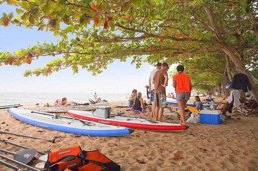 Great beachside location at Amara Windsurfing Club Water Sports Pattaya