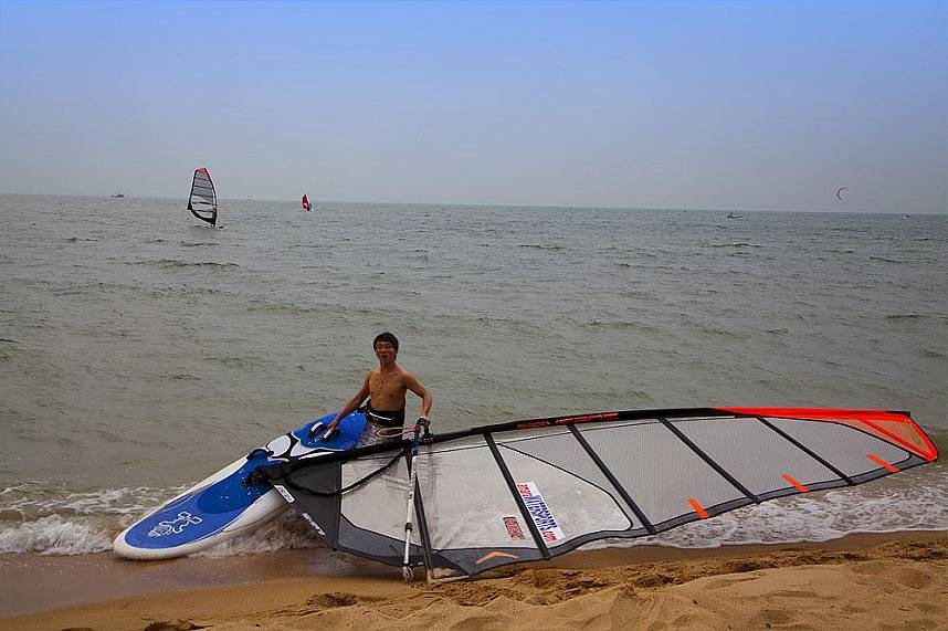 Smiling face after a ride at Amara Windsurfing Club Water Sports Pattaya