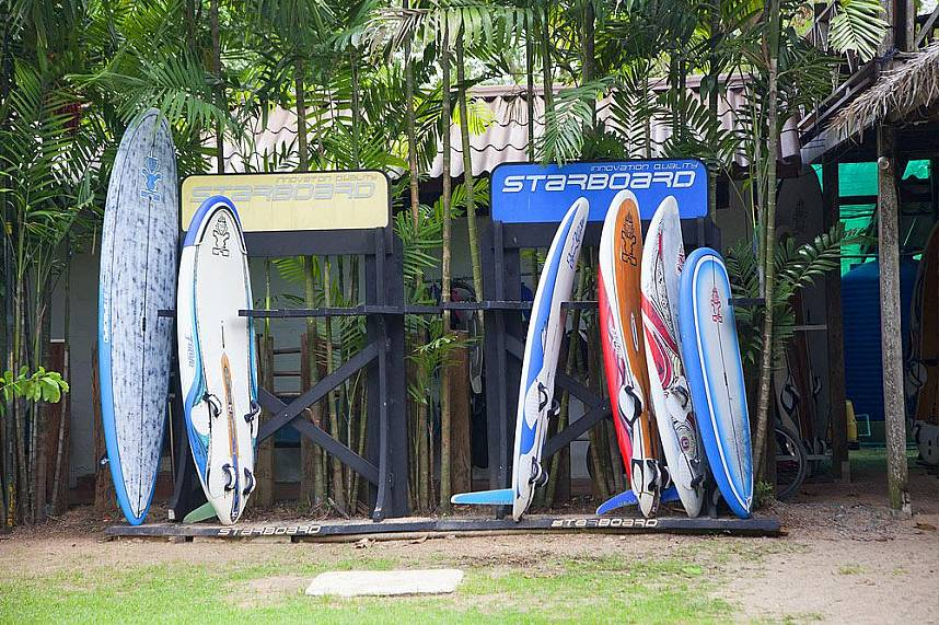 Different boards for your adventure at Amara Windsurfing Club Water Sports Pattaya