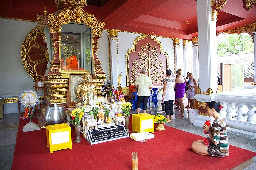The shrine of Mummiefied Monk in Koh Samui gives insight of Thai Buddhist culture