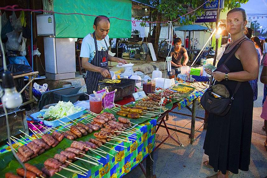 Lamai Night Market in Koh Samui offers great food