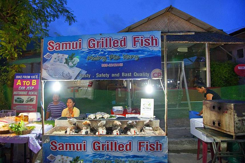 Tasty food at Koh Samui Lamai Night Market