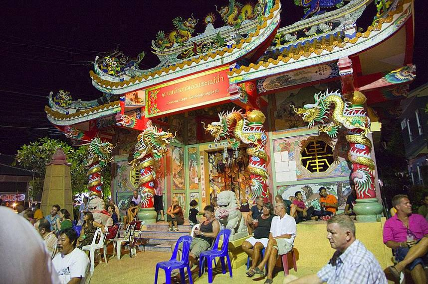 Chinese temple at Maenam Night Market Koh Samui