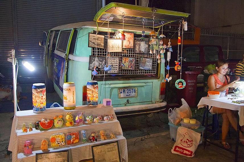 Small gift shop at Maenam Night Market Koh Samui