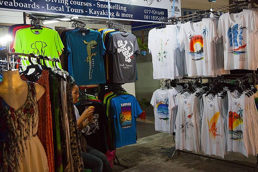 Get a Koh Samui T-Shirt at Maenam Night Market