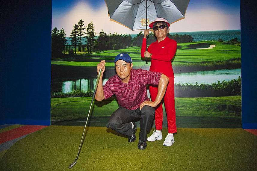 Just like a golf course - Louis Tussauds Waxworks Pattaya