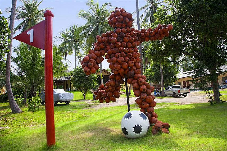 Spend during your Thailand beach holiday some enjoyable time at Samui Football Golf