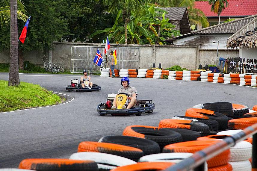 The fast and furious racers at Samui Go Kart