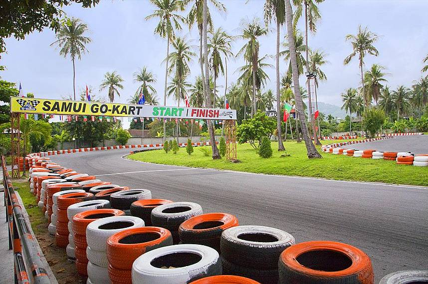 show of your skills at Samui Go Kart