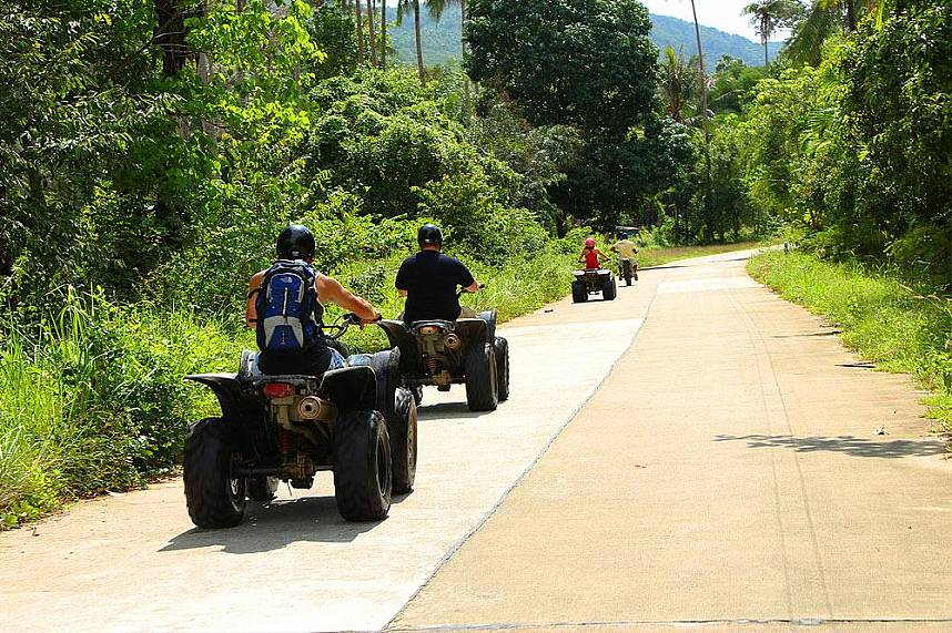 A day full of fun and adventure awaits you at Samui Quad ATV