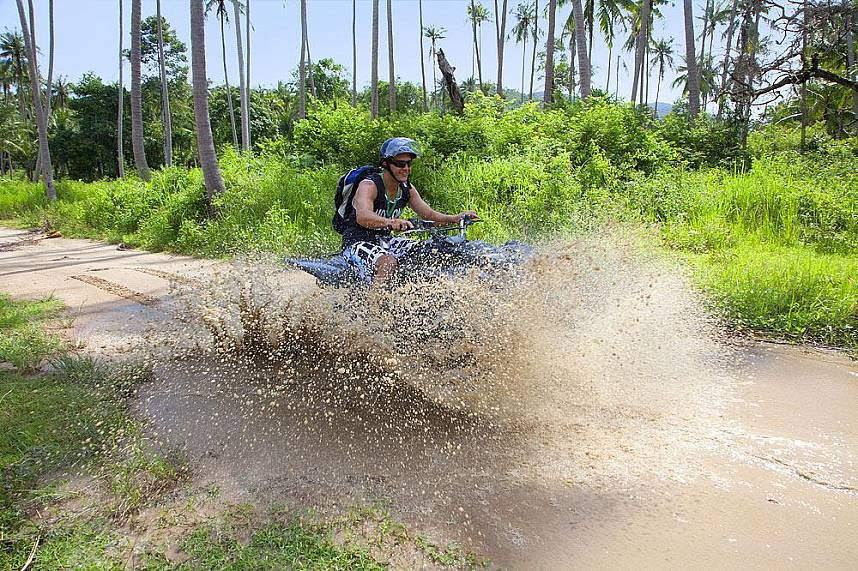 Adrenaline rush during the adventurous drive at Quad ATV Samui