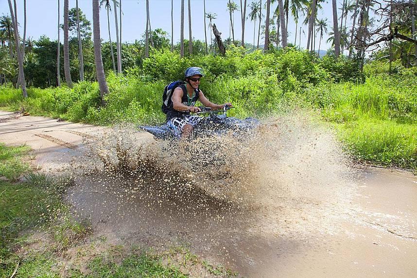 Adrenaline rush during the adventurous drive at Quad ATV Samui