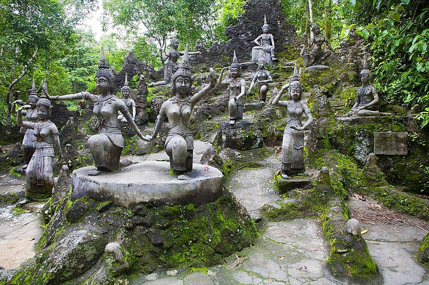 Fantastic sculptures on display at Tanim Waterfall and Magic Garden Koh Samui